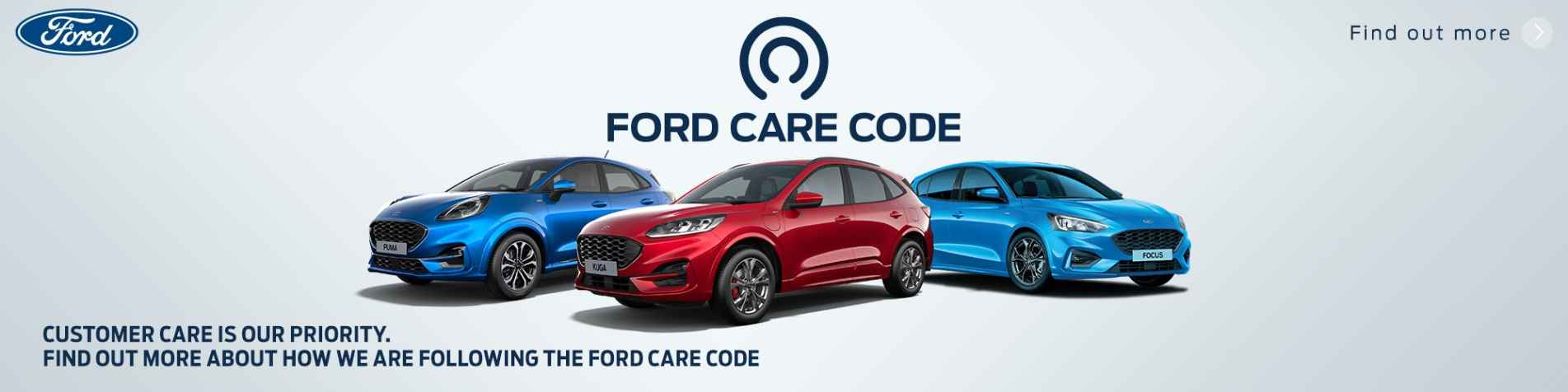 Ford Care Code Banner